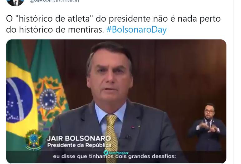 No dia da mentira, parlamentares embarcam na hashtag bolsonaroday