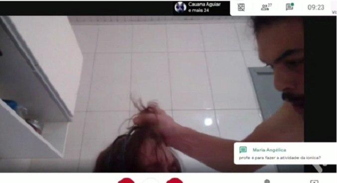 Padrasto agride garoto e câmera de aula virtual flagra violência no rs