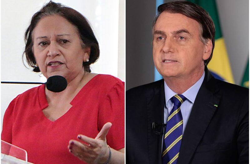 VÍdeo: bolsonaro diz que rn usou r$ 900 milhões enviados para combate à covid no pagamento de servidores; fátima rebate e afirma que presidente propagou fake news