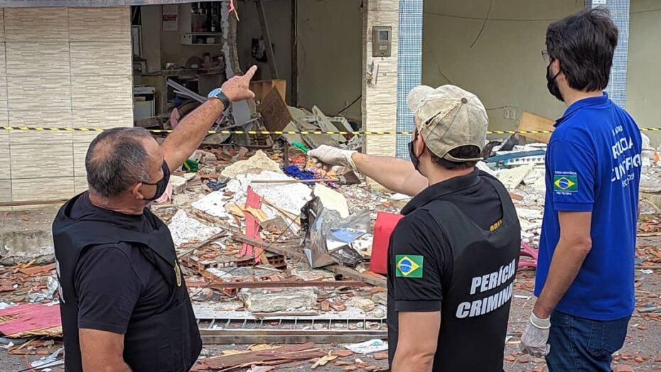 Itep visita escombros da explosão na zona leste de natal e suspeita da tragédia
