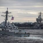 Eua e china instalam porta-aviões utilizados em guerras no mar e aumentam tensões