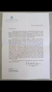 Leia a carta enviada pelo papa francisco ao pai de menino henry