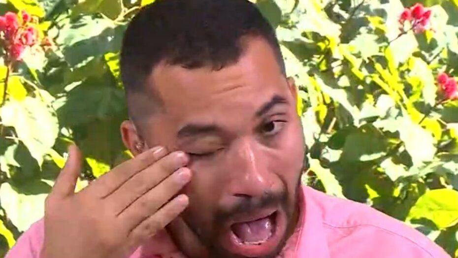 Gilberto chora ao ver vídeo de sarah para o bbb21: 'era meu porto seguro'