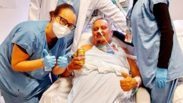 Internado por covid, paciente tem desejo atendido e toma cerveja em hospital