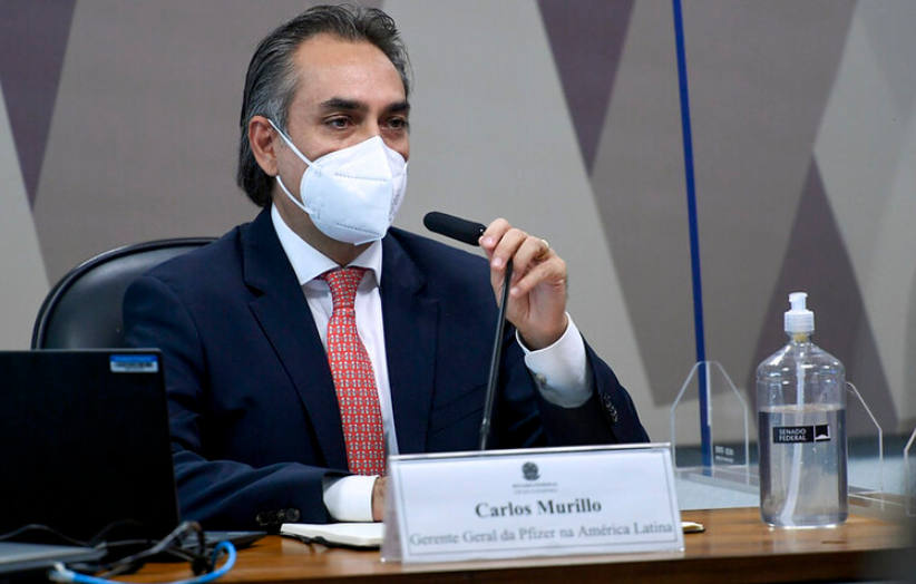 Brasil não respondeu oferta de vacina feita em agosto, diz representante da pfizer na cpi da covid