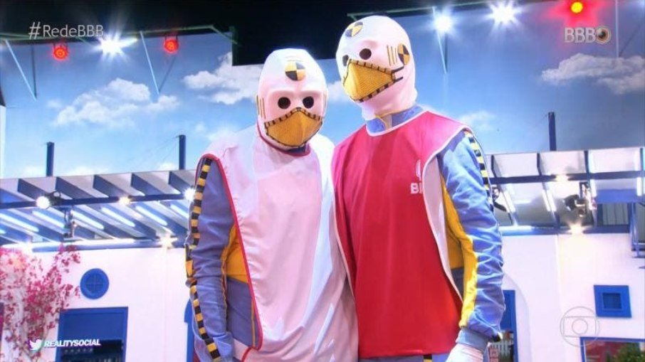 Bbb 21: dummies tiram máscaras, dançam e finalmente revelam suas verdadeiras identidades