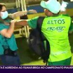 Jornalista da globo é agredida após filmar briga entre times