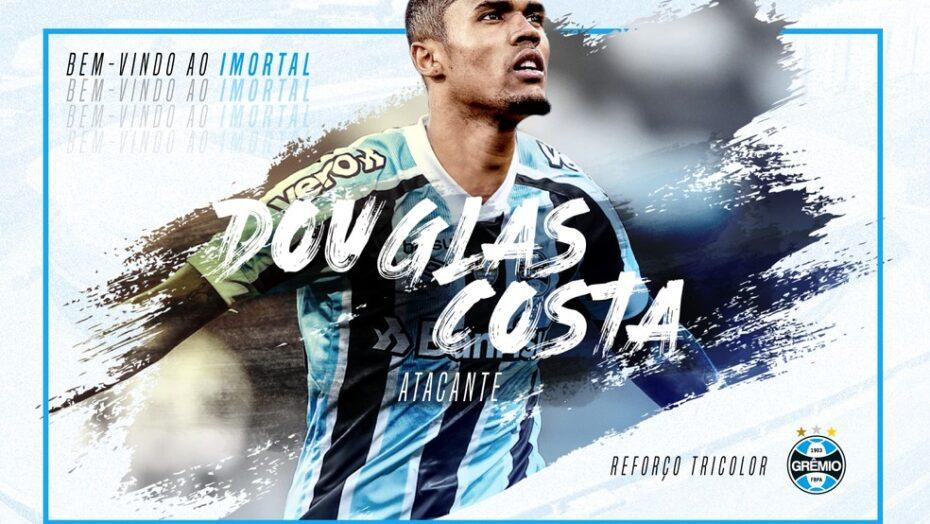 Grêmio anuncia contratação de douglas costa