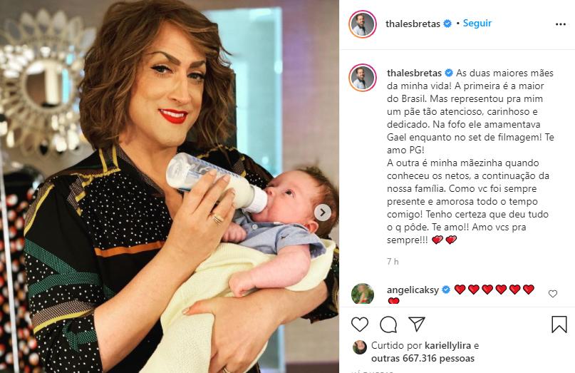 """Viúvo de paulo gustavo faz homenagem para humorista no dia das mães: """"um pãe dedicado"""""""