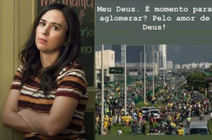 Tatá werneck critica manifestação pró-bolsonaro no rio de janeiro