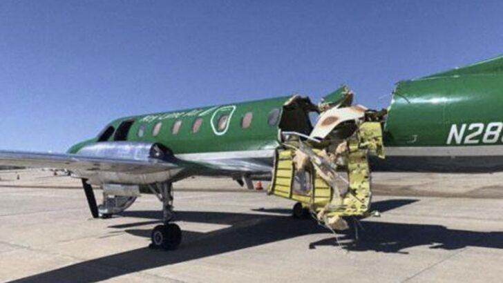 Após colisão no ar, piloto pousa sem perceber avião quase partido ao meio em denver, nos eua