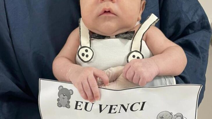 Após 18 dias intubado, recém-nascido recebe alta de hospital; 'nasceu de novo', diz mãe