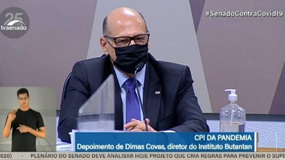 Dimas covas rebate pazuello e diz que fala de bolsonaro na internet levou à interrupção de compra de vacina