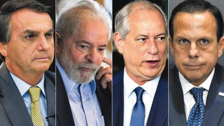 Bolsonaro, lula, ciro e doria já avaliam perfis para vice em 2022; veja preferências de cada um