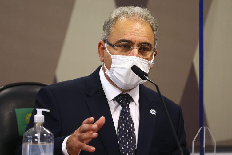 Ministro queiroga diz em cpi que brasil não está em rota de colisão com a terceira onda da pandemia