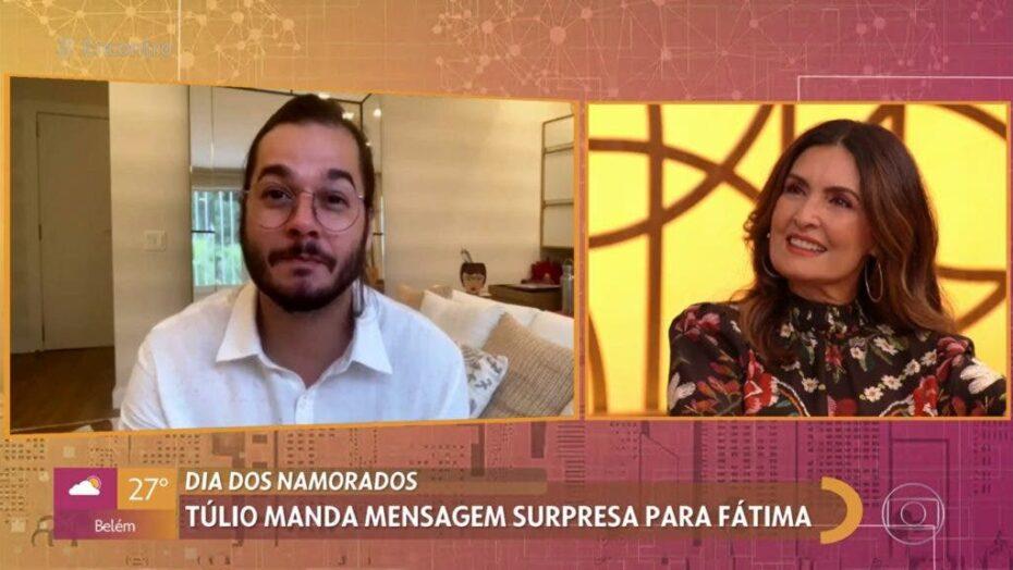 """Fátima bernardes recebe surpresa com declaração do namorado ao vivo e se desespera: """"É assustador"""""""