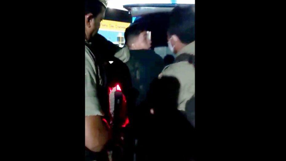 VÍdeo: bombeiro é preso após furar abordagem e ameaçar pms