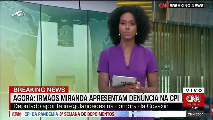 Após deslize em transmissão, maju coutinho vai parar na cnn brasil e 'apresenta jornal' ao vivo
