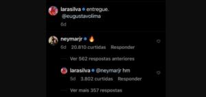 Neymar e influencer de 19 anos não escondem mais o affair; veja prints