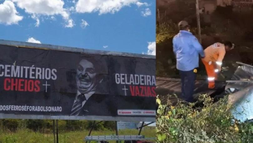 Retirada de outdoor contra bolsonaro é vista como ataque à liberdade de expressão