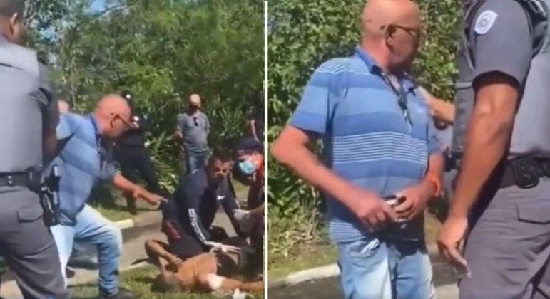"""Vídeo mostra pai em ataque de fúria ao ver filho baleado após participar de assalto: """"você não precisa roubar"""""""