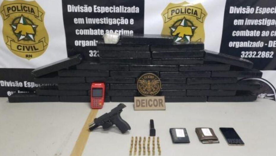 Polícia prende cinco pessoas que traficavam em estacionamentos de supermercados em parnamirim e apreende 40kg de drogas