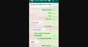 Lázaro usou celular de vítima para enviar mensagens se passando por mulher; print