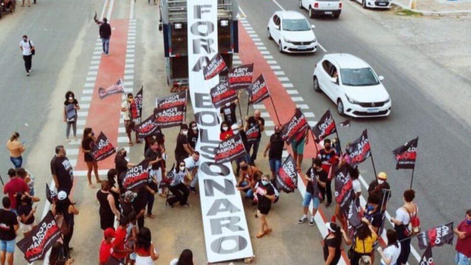 Pau dos ferros, no rn, registra protesto contra bolsonaro