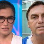 No jornal nacional, globo critica ataque de jair bolsonaro a repórter e não deixa barato: 'descontrolado'