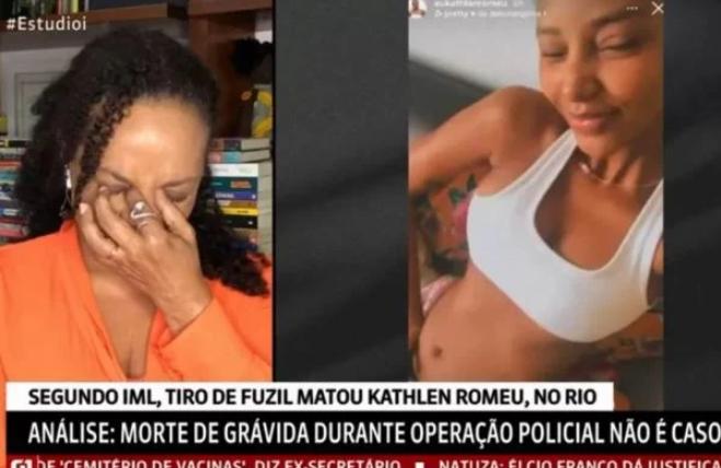 Repórter da globo news chora ao comentar morte de jovem grávida no rio