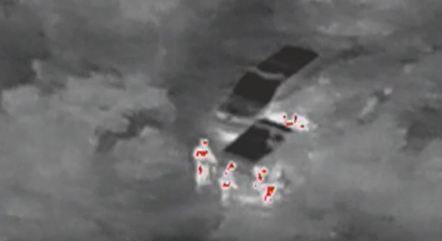 Drone que mapeia pontos de calor é usado à noite na caça a lázaro detecta pessoa na mata