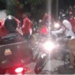 Motoboys fazem protesto na frente da casa de cliente em natal que recebe sanduíches e depois liga reclamando que não recebeu