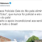 Flávio bolsonaro parabeniza polícia civil por 'eliminação do miliciano ecko'