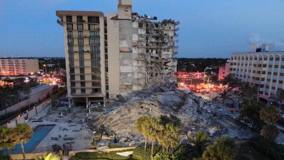 Prédio de 12 andares desaba em miami beach, muda cenário paradisíaco e deixa um morto e dez feridos