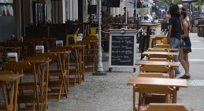 bares e restaurantes de botafogo ficam vazios na hora do almoco no rio de janeiro pandemia