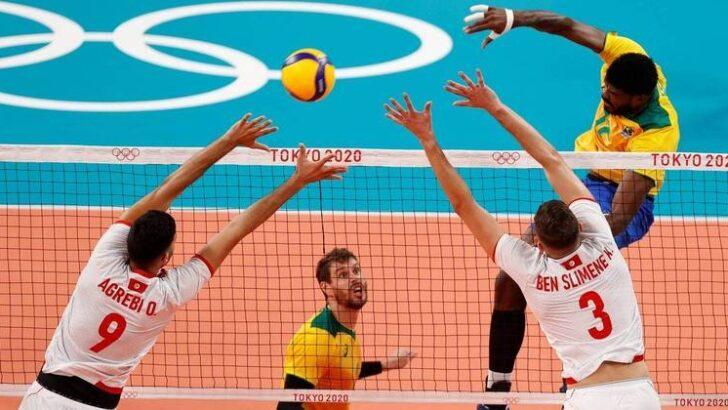 volei masculino brasil tunisia olimpiada toquio
