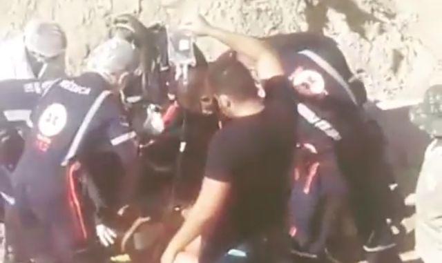 Acidente em obra deixa pelo menos 2 feridos e mobiliza samu e bombeiros em natal