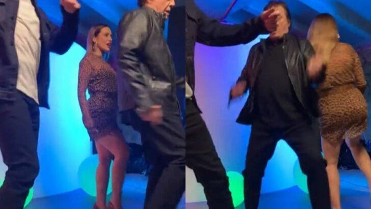 """Fábio jr. surge """"rebolando"""" com fiuk e cleo em vídeo ao dançar"""