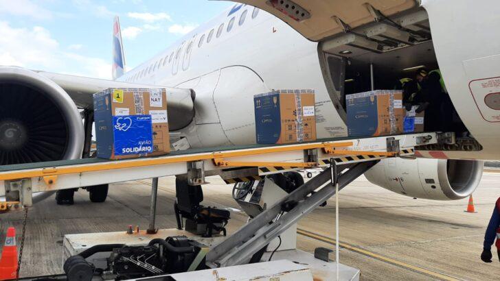 Rn recebe nova carga com mais de 85 mil vacinas contra a covid-19
