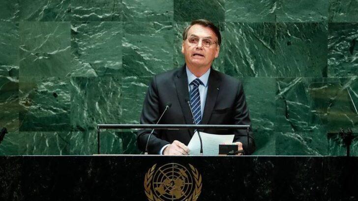 """Na onu, bolsonaro fala em ameaça """"socialista"""" e critica passaporte da vacina"""