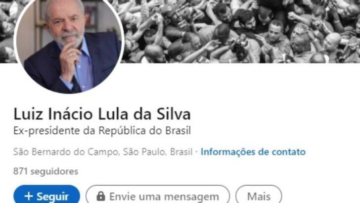 Lula cria perfil no linkedin e cita trajetória como torneiro mecânico e político