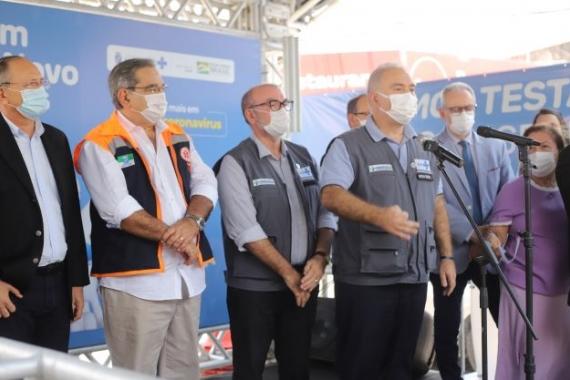 Com presença do ministro da saúde, plano nacional de expansão da testagem para covid-19 é lançado em natal