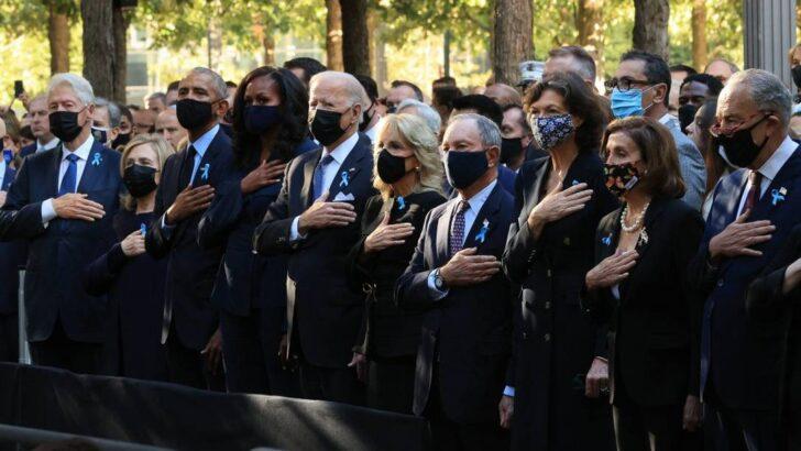 Joe biden, barack obama e bill clinton prestam homenagem às vítimas do 11 de setembro