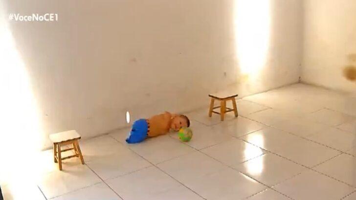 Criança de 6 anos sem braços e pernas joga bola, brinca no celular e sonha em ser policial: 'aprendi tudo sozinho'