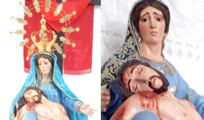 Coroa de nossa senhora da piedade é furtada da igreja de espírito santo