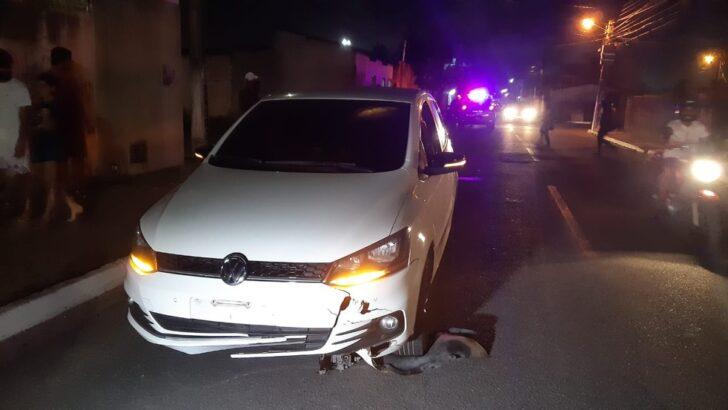 Ciclista é atropelado e fica preso embaixo de carro que o atingiu em natal