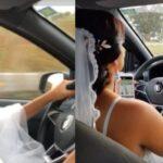 Após ter 20 corridas canceladas, noiva grávida dirige até o próprio casamento